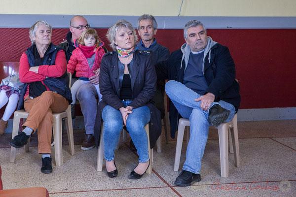 Elu-es de G à D, Huguette Fossat, 2ème adjointe; Isabelle Petit, 4ème adjointe; Dominique Petit, 1er adjoint; Romain Billot, 3ème adjoint; Michel Duleau, Conseiller municipal. 14 janvier 2017, Haux