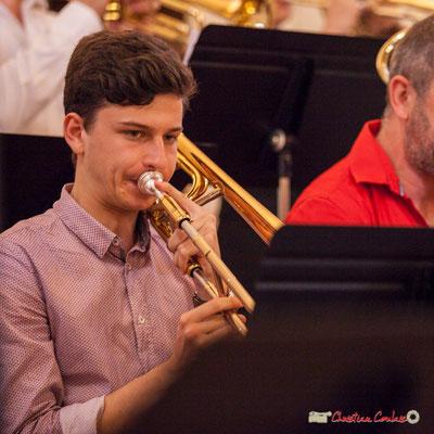 Victor Dubray; Big Band Jazz du conservatoire de Bordeaux Jacques Thibaud. Festival JAZZ360 2018, Cénac. 09/06/2018