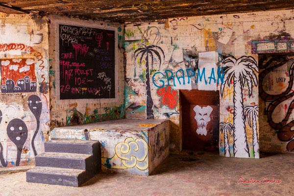 """""""Multigraffs"""" Bunker, batterie des Arros, mur de l'Atlantique, Soulac-sur-Mer. Samedi 3 juillet 2021. Photographie © Christian Coulais"""