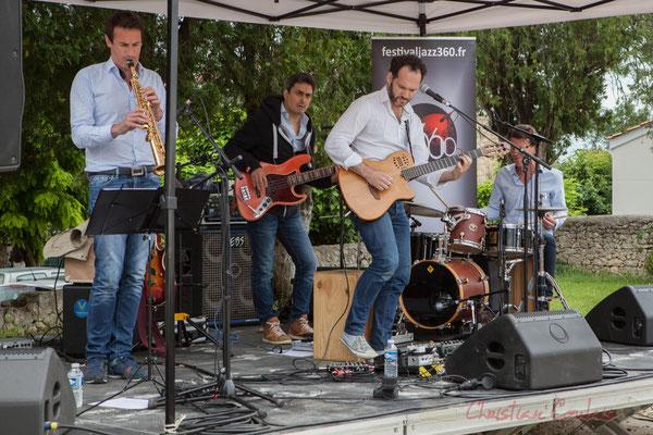Thomas Lachaize, Jean Lassallette, Nicolas Mirande, Christophe Léon Schelstraete, Taldea Group. Festival JAZZ360 2016, Quinsac