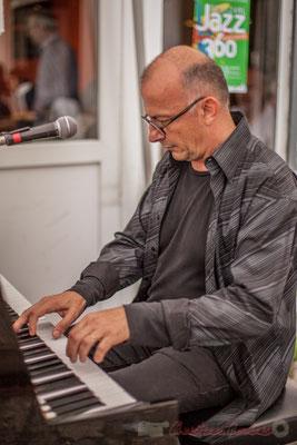 Fred Lasnier, Louisiana Jazz Duo. Festival JAZZ360 2016, restaurant les Acacias, Cénac, 11/06/2016