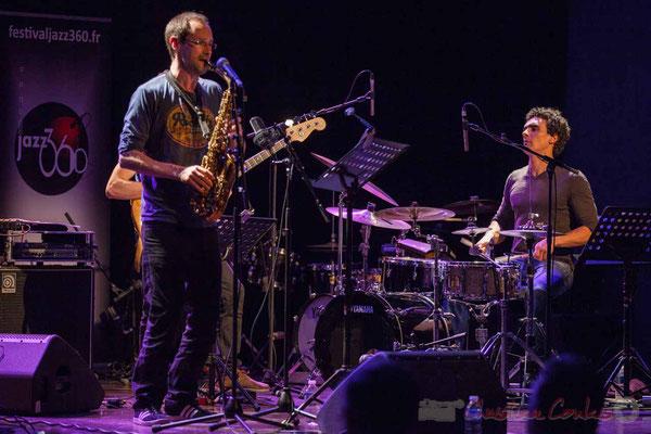 Le Jardin Quartet : Julien Dubois, saxophone / Gaétan Diaz, batterie. Festival JAZZ360 2016, 10/06/2016