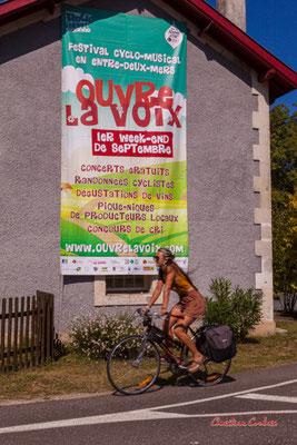"""""""Ouvre la voix 2021"""" De Sadirac à l'ancienne gare de Citon-Cénac; 5km. Ouvre la voix, dimanche 5 septembre 2021. Photographie © Christian Coulais"""