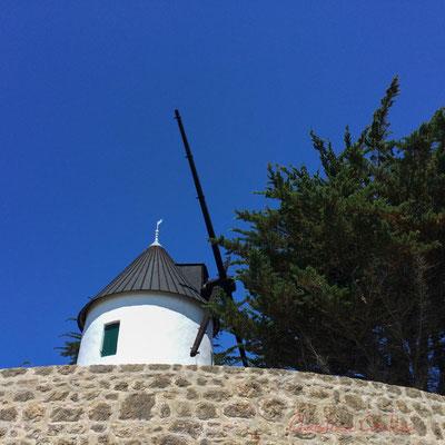 Moulin à vent, Plage de l'Océan, l'Epine, Île de Noirmoutier, Vendée, Pays de la Loire