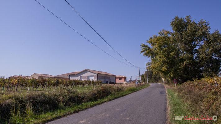Avenue de Lignan, juste avant le hameau Chabrot, Cénac, Gironde. 16/10/2017