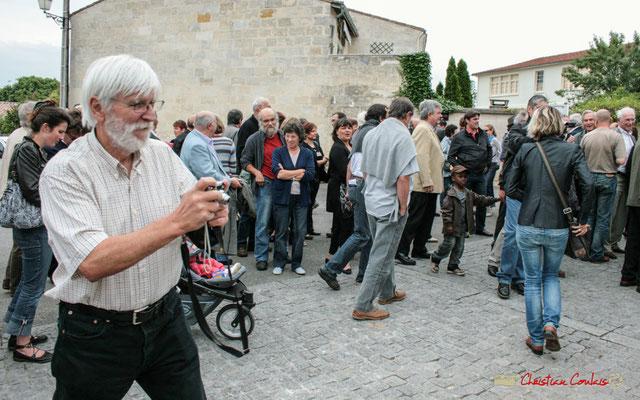 Jean Rigo, Conseiller municipal de Créon (1994-2017).  Plantation de l'Arbre de la Laïcité, place Camille Gourdon, Créon. 19/06/2010