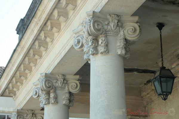 Chapiteaux des colonnes du Château de Latresne, site de l'Aérocampus Aquitaine
