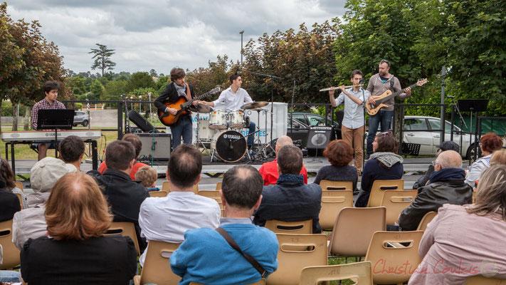 Pierre-Emmanuel Faye, Eddie Dhaini, Pierre Lucbert, Alexandre Aguilera, Jonathan Edeline. Festival JAZZ360 2016, Cénac, 11/06/2016