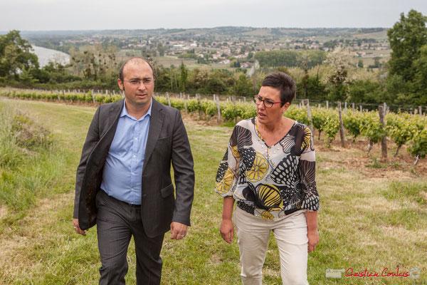 Christophe Miqueu, candidat aux élections législatives, Nathalie Chollon-Dulong suppléante, 12ème circonscription de la Gironde. Loupiac, 5 mai 2017