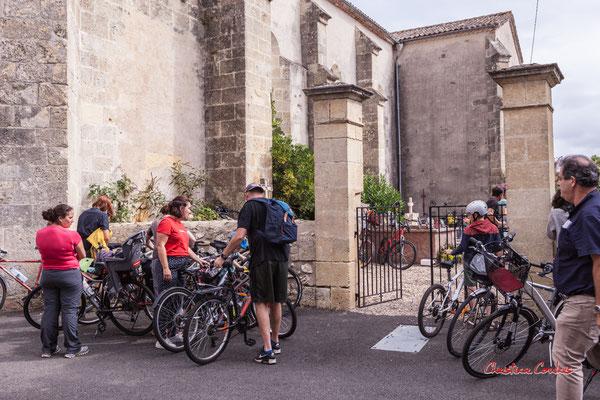 Eglise de Saint-Brice, départ pour Frontenac. Ouvre la voix, samedi 4 septembre 2021. Photographie © Christian Coulais