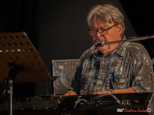 Bernard Lubat. Compagnie Lubat. Concert de soutien des Insoumis de la 12ème circonscription de la Gironde. 28/05/2017, Targon
