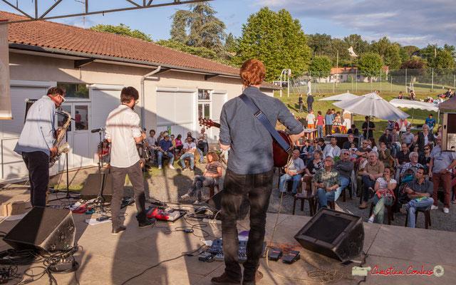 Oggy & The Phonics et son public, plus de 180 personnes présentes. Festival JAZZ360 2018, Langoiran. 07/06/2018