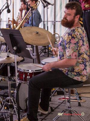 Valentin Poulet; Big Band du Conservatoire Jacques Thibaud. Festival JAZZ360 2019, parc du château de Pomarède, Langoiran. 06/06/2019