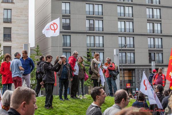 """""""F.I. Nous devons prendre de la hauteur, d'autres montagnes sont à conquérir"""" Manifestation contre la réforme du code du travail. Rue Georges Bonnac, Bordeaux, 12/09/2017"""