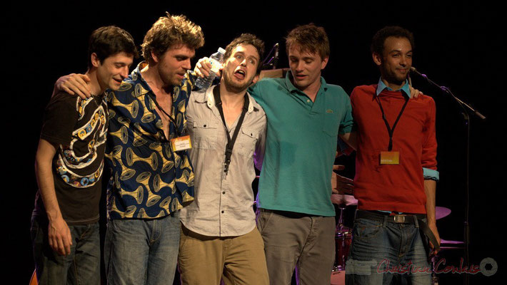 Philippe Gueguen, Philippe Siffre, Paul Robert, Mathias Monseigne, Curtis Efoua; Edmond Bilal Band, Festival JAZZ360 2013, Cénac. 07/06/2013