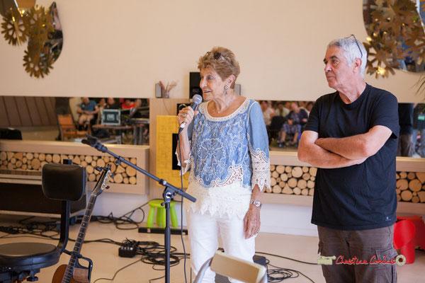 Odette Trupin, Président d'Handivillage 33 / Foyer Clary; Jean-Paul Robert,  Association JAZZ360. Camblanes-et-Meynac, 14/09/2019