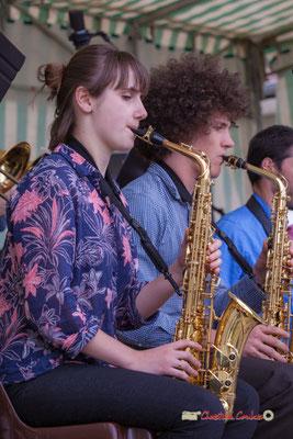 Stéphanie Furlan, Pierre Thiot; Big Band du Conservatoire Jacques Thibaud. Festival JAZZ360 2019, parc du château de Pomarède, Langoiran. 06/06/2019