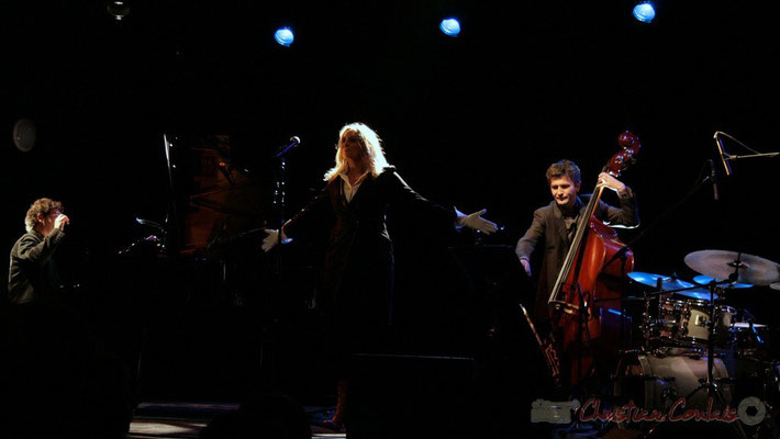 Serge Moulinier, Lo Jay, Christophe Jodet; Lo Jay et Serge Moulinier Trio. Festival JAZZ360 2010, Cénac. 12/05/2010