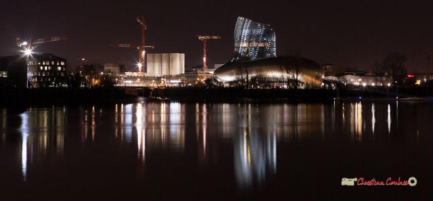 La Cité de la culture et des civilisations du vin photographiée par Christian Coulais. Bordeaux, 27 février 2019
