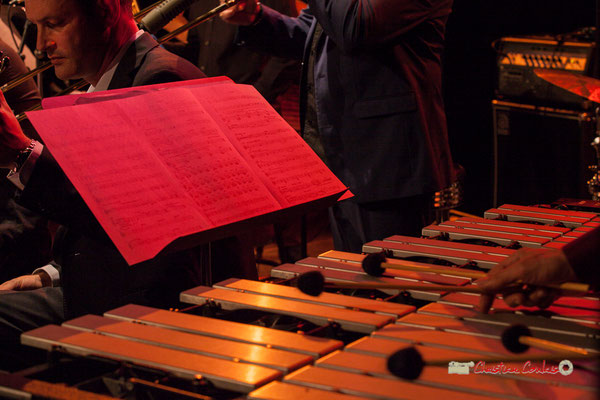 Partition et vibraphone de David Patrois; Medium Ensemble 3 de Pierre de Bethmann. Festival JAZZ360 2019, Cénac. 07/06/2019
