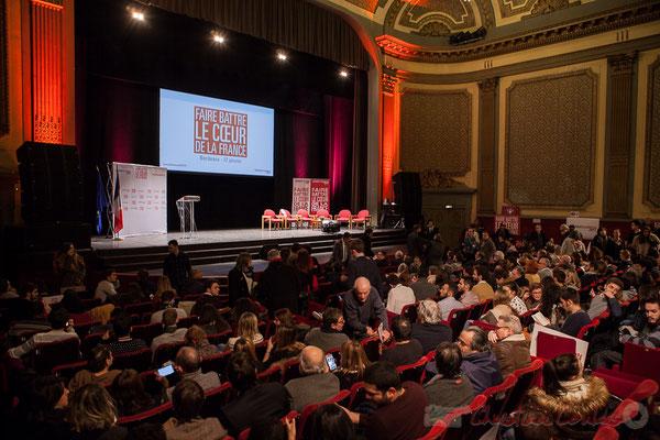 Théâtre Fémina, Bordeaux, soirée informative autour d'un des 7 candidats aux primaires citoyennes, Benoît Hamon. 3