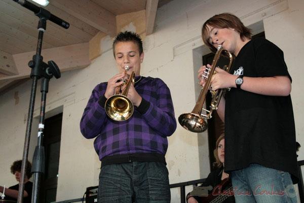 Trompettes. Big Band Jazz du Collège Eléonore de Provence, de Monségur (promotion 2010). Festival JAZZ360 2010, Cénac. 12/05/2010