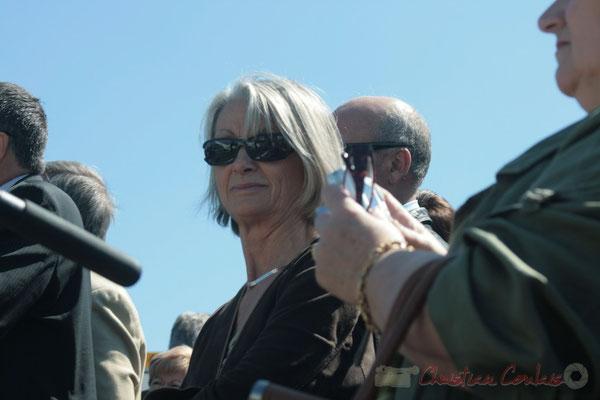 Simone Ferrer, maire de Cénac. Inauguration de l'Aérocampus Aquitaine, Latresne, le 14 avril 2011