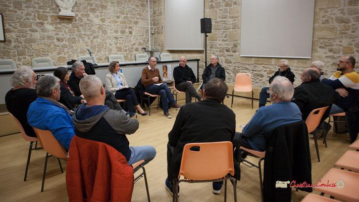 Une quinzaine de militants participent au Comité d'appui de la France insoumise aux élections européennes. Langon, 14/02/2019