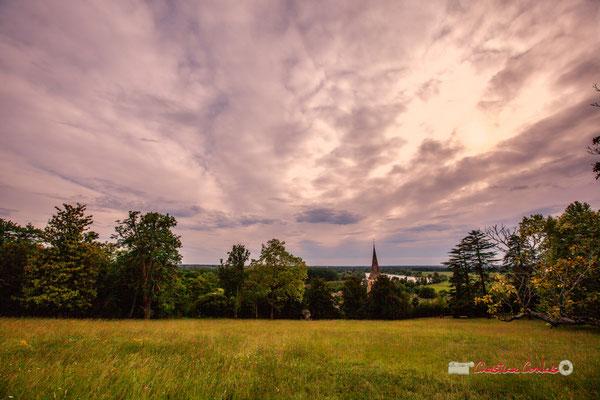 Langoiran et la Garonne depuis le parc du Château de Pomarède. Festival JAZZ360, 6 juin 2019