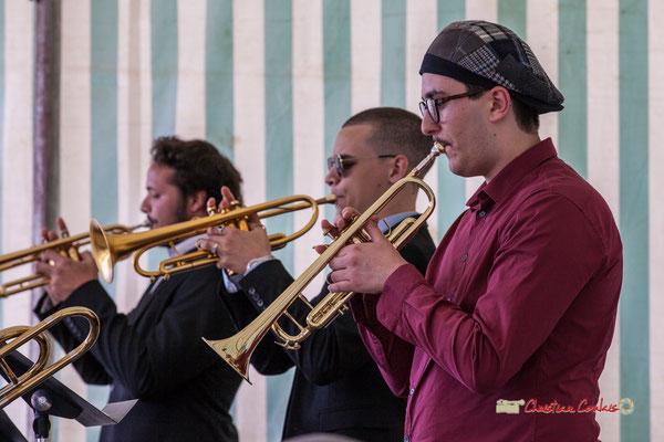 Andréa Glockner; Big Band du Conservatoire Jacques Thibaud. Festival JAZZ360 2019, parc du château de Pomarède, Langoiran. 06/06/2019
