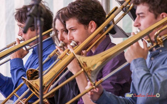 Rozanne Bézier; Big Band du Conservatoire Jacques Thibaud. Festival JAZZ360 2019, parc du château de Pomarède, Langoiran. 06/06/2019