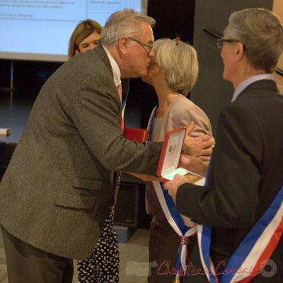 """""""Congratulation"""" Honorariat de Simone Ferrer et Gérard Pointet, anciens Maires de Cénac, vendredi 3 avril 2015"""