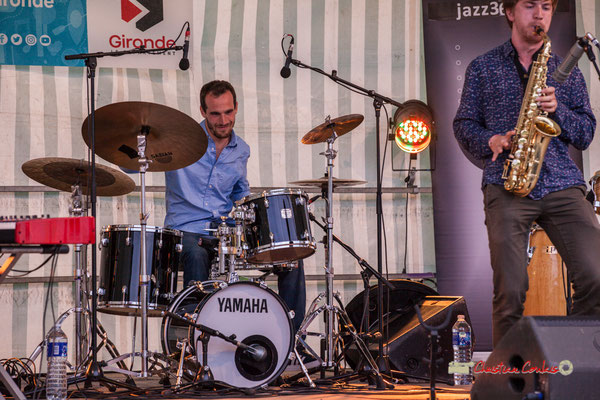 Félix Joveniaux, Joachim Poutaraud; Adrien Brandéis Quintet, Festival JAZZ360 2019, Langoiran. 06/06/2019