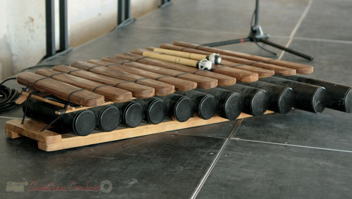 Xylophone. Festival JAZZ360, Les coulisses du Festival à Cénac. 01/06/2011