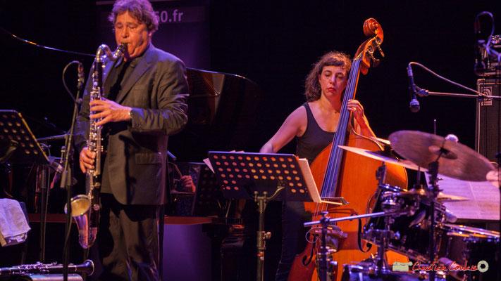 """Louis Sclavis, Sarah Murcia; Louis Sclavis Quartet """"Characters on a wall"""". Festival JAZZ360 2018, Cénac. 08/06/2018"""