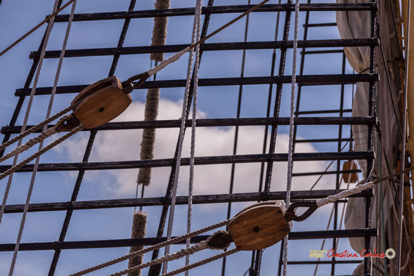 """""""Quadrille-cordage"""" Krusenstern. Bordeaux fête le fleuve. 22/06/2019 Reproduction interdite - Tous droits réservés © Christian Coulais"""