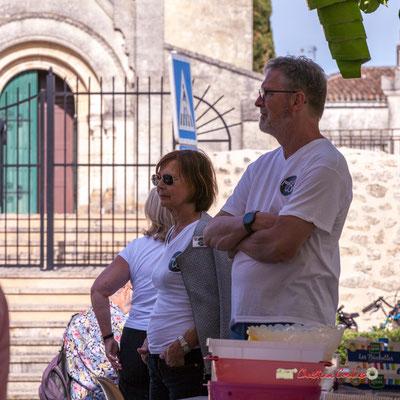 Jocelyne Cazenave, Philippe Olive, bénévoles JAZZ360. Jujubees Swing Combo. Festival JAZZ360, Cénac. 08/06/2019