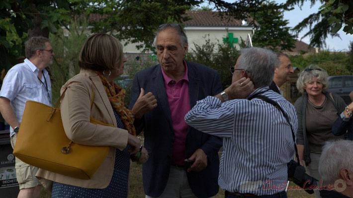 Festival Jazz360, Catherine Veyssy, Maire de Cénac, Francis Delcros, Maire de Latresne et Pierre, bénévole