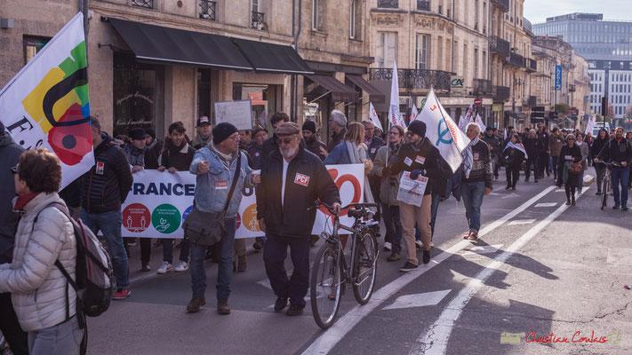 Manifestation intersyndicale contre les réformes libérales de Macron. Rue du Dr Charles Nancel Penard, Bordeaux, 16/11/2017
