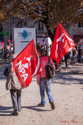 N.P.A. Manifestation intersyndicale de la Fonction publique, place Gambetta, Bordeaux. 10/10/2017
