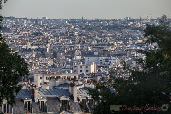 Vue depuis le funiculaire du Sacré-Cœur de Montmartre, Paris 18ème arrondissement