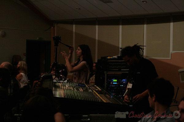 Captation d'images et table de mixage. Roger Biwandu Quintet, Festival JAZZ360, Cénac 03/06/2011