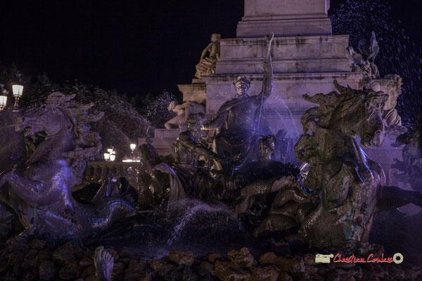 Monument aux Girondins, bassin le triomphe de la République. Bordeaux, mercredi 17 octobre 2018