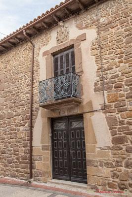 Façade de maison / Fachada de la casa. Liédena, Navarra