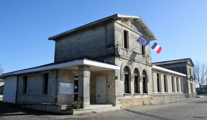 Mairie-Ecole par Gaël Moignot. Cénac d'aujourd'hui. 10/02/2018