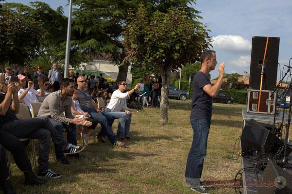 Vincent Nebout et sas Chorale Jazz CM1-CM2. Festival JAZZ360, Cénac, 12/06/2015