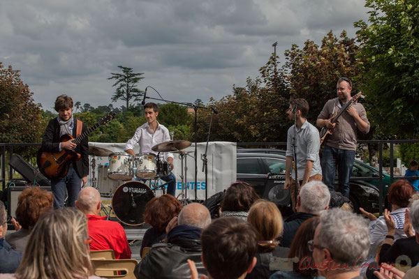 Eddie Dhaini, Pierre Lucbert, Alexandre Aguilera, Jonathan Edeline. Festival JAZZ360 2016, Cénac, 11/06/2016