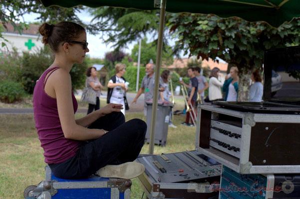Festival JAZZ360, Charlotte Léric, technicienne son, Cénac, 12/06/2015
