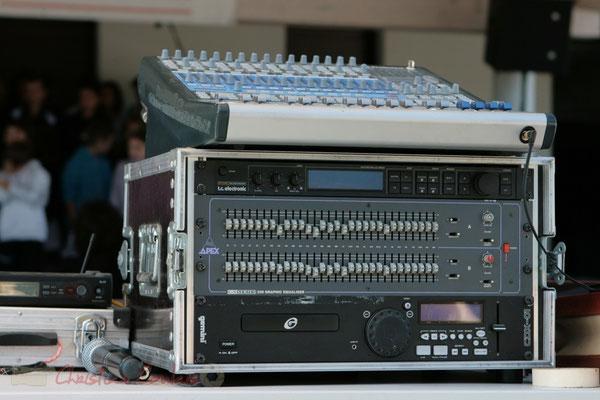 Sonorisation : Pablo Jarraute. Festival JAZZ360, Les coulisses du Festival à Cénac. 01/06/2011