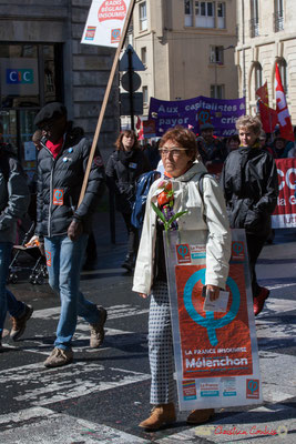 """""""Radis béglais insoumis"""" Manifestation du 1er mai 2017, avec la France Insoumise, place Gambetta, Bordeaux"""